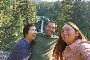 Derek, Rachel, and I at Burney Falls