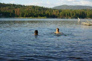 Swimming at Lake Britton