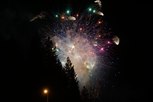 Fireworks at Burney